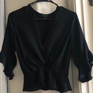 Super cute black Topshop blouse